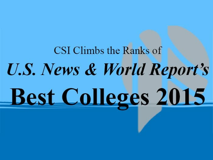 Luxury Vehicle: CSI Climbs 20 Spots In 2015 Best Colleges Rankings By U.S