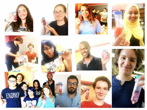A collage of photos of students who participated in the Summer Cancer Workshop organized under the direction of Prof. Nancy Liu-Sullivan.