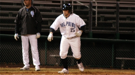 Joe Cassano totaled three hits and four RBI in the Dolphins wins over Yeshiva.
